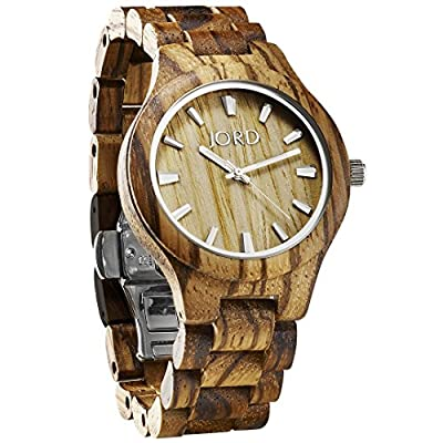 JORD Wooden Wrist Watches for Men or Women - Fieldcrest Series / Wood Watch Band / Wood Bezel / Analog Quartz Movement - Includes Wood Watch Box