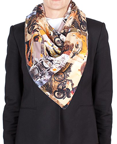Versace ''Evil Knievel'' Pattern Silk Scarf by Versace