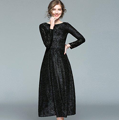 Kleid schwarz lang spitze