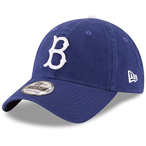 New Era Dodgers Brooklyn (Brooklyn Dodgers New Era Cooperstown Collection Core Classic Replica 9TWENTY Adjustable Hat Royal)
