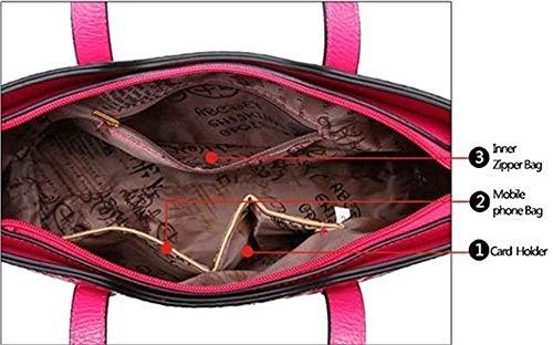 Wallet Plus Pattern High PU Leather Crocodile of Day Women Capacity Red 2 Handbag Clutch Set wgvxzqRvT