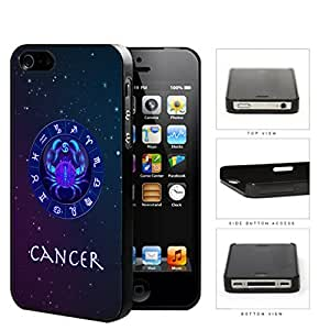 Cancer Astrological Sign With Horoscope Symbol Hard Plastic Snap On Cell Phone Case Apple iPhone 4 4s