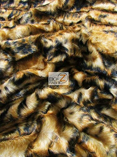 Assorted Faux Fake Fur Animal Short/Long Pile Coat Costume Fabric Sold by The Yard DIY Scarfs Rugs Accessories Fashion (Bengal Tiger)
