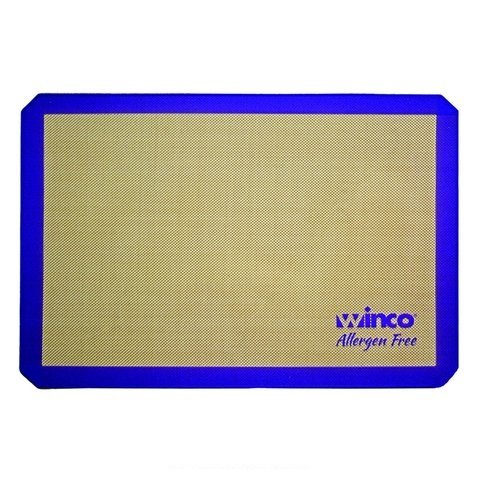Winco SBS-21PP, 14-7/16'' x 20-1/2'' Two-Third Size Purple Silicone Baking Mat, Allergen Free Pastry Mat, Cookie Sheet Liner