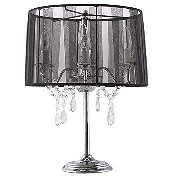 lampe a poser baroque noir