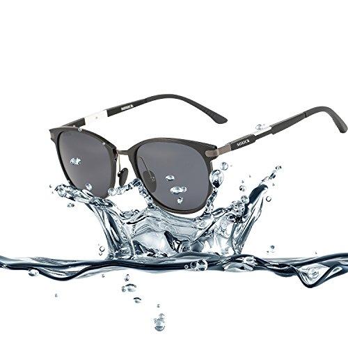 [Vintage 80s 90s Punk Style Fashion Aviator Sunglasses for Men Black Frame] (80s Fashion For Men)