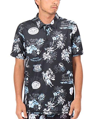 [ガッチャ ゴルフ] GOTCHA GOLF ポロシャツ 吸水速乾 アロハ ポロ 182GG1219 ブラック XXXLサイズ