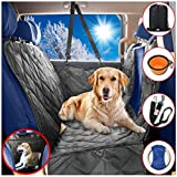 Cheap Dog Car Seat Covers Hammock for Pets-Back Seat and Doors Protector-Unique Mesh Window Backseat Barrier-Side Flaps,Leak-proof,Anti-Scratch,Nonslip,Machine Washable-Black-Fits Most Vehicles-54×60