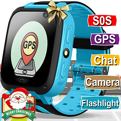 (Kids Smart Watch Phone - GPS Tracker for Kids Boys Girls Smartwatch with Cellphone SOS Anti-lost Camera Game Smart Watch Digital Wrist Watch Bracelet for Sport Learning Toys Christmas Holidays)