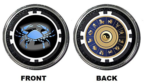 Zodiac Poker Card Guard/Protector HOLDEM POKER COVER Gambling Coin (Cancer)