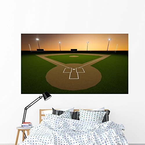Wallmonkeys WM124682 Baseball Stadium Peel and Stick Wall...