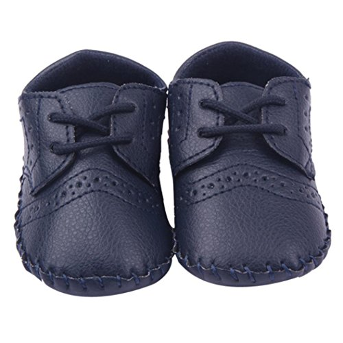Cheap HP95(TM) Infant Baby First Walkers Shoes, Cute Baby Gentleman Shoes (13 CM, Navy)
