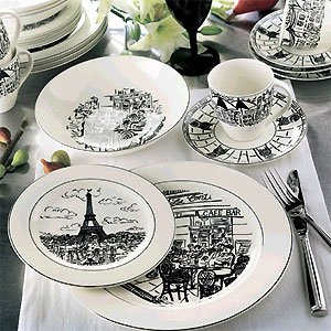 Mikasa Parisian Scenes 5 Piece Place Setting & Amazon.com | Mikasa Parisian Scenes 5 Piece Place Setting: Dinner ...