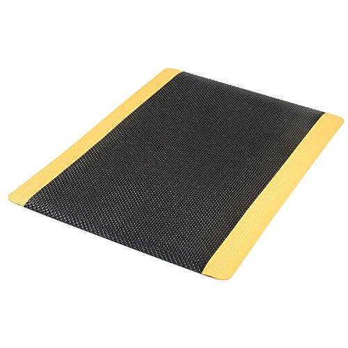 Supreme Sliptech Mat - Apache Mills Supreme Sliptech Mat, 36x60, Black W/Yellow Border
