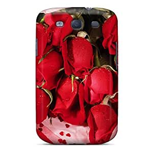 Awesome Design Romantic Roses Hard Case Cover For Galaxy S3