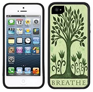 Breathe Tree Environment Handmade iPhone 5 Black Bumper Plastic Case