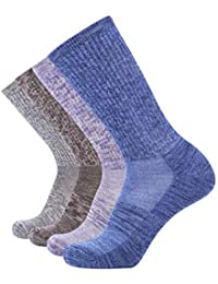 4P 86% Merino Wool Women's Outdoor Hiking Trail Crew Socks