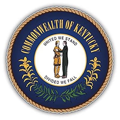 Kentucky USA State Seal Home Decal Vinyl Sticker 5'' X 5''