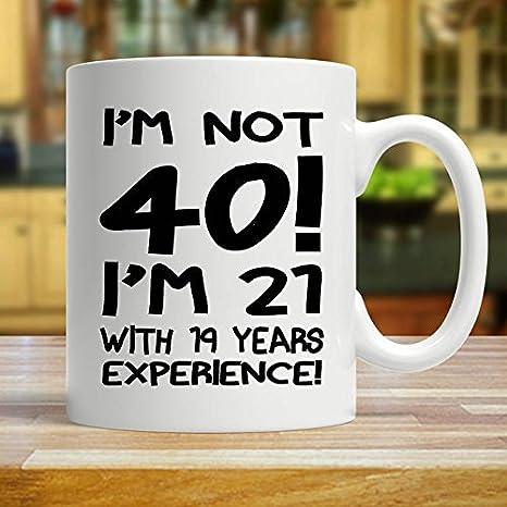 Amazon.com: Taza de 40 cumpleaños, regalo de 40 cumpleaños ...