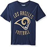 NFL St. Louis Rams Boys Junk Food Clothing Crew Neck Tee, True Navy, Size 6
