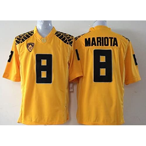 f669aa890 MNY NCAA Football Oregon Ducks NO.8 Mariota Jersey NCAA Men s Oregon Ducks  Football Jersey