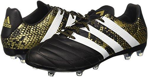 ftwr core Fg Met 2 gold White Ace Homme Football De Black Adidas 16 Noir Chaussures Leather vAUqxw7x