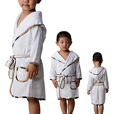 Omaysaa Kid's Hooded Bathrobe Hooded Cotton Towel for Kids for Girls and Boys,100% Cotton,Cozy Robe by for Kids 080514-3