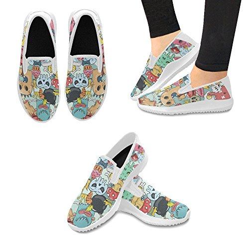 Graffiti Custom Canvas - Unique Debora Custom Stylish Women's Shoes Sneakers Outsole Canvas Unusual Loafers for Doodle Graffiti