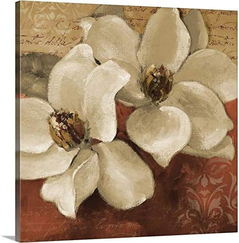 Midday Magnolias II Canvas Wall Art Print