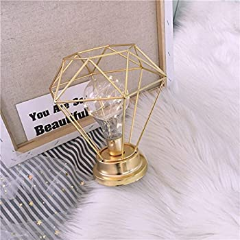 Bedroom Decor Bedside Lamp Amzstar Bulb Table Lamp Diamond Shape Night Light Decor Lamp Gift