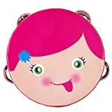 Tambourine Kids Toy Mugig Hand Drum Round Percussion (Girl)