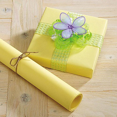Pastel Yellow Kraft Gift Wrap - 38 sq. ft, heavyweight...