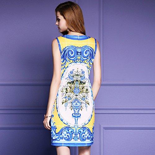 Cotylédons Women`s Robes De Ligne Mince Robes De Soirée Sans Manches À Col Rond