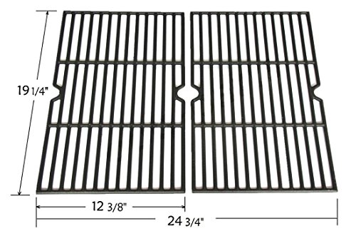 Great Deal! Set of 2 Cast Iron Cooking Grid Replacement for Select Gas Grill Models By Grillware, Ch...