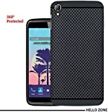 Hello Zone Exclusive Dotted Design Soft Back Case Cover Back Cover For Panasonic Eluga Switch-Black