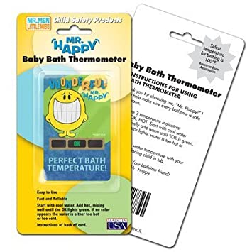 Mr. Happy Bath Thermometer by LCR Hallcrest