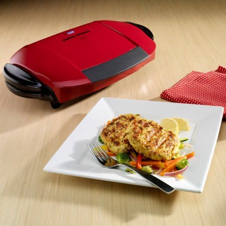 George Foreman 5-Serving Grill with Removable Plates, Red, GRP0004R by George Foreman Grillls (Image #3)
