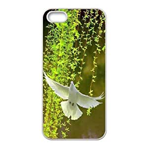 White Dove DIY Cover Case for Iphone 5,5S,personalized phone case ygtg584644