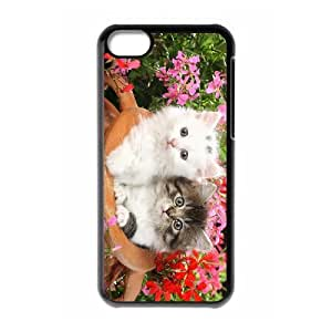 LZHCASE Diy Hard Shell Case Lovely Cat For Iphone 5C [Pattern-1]