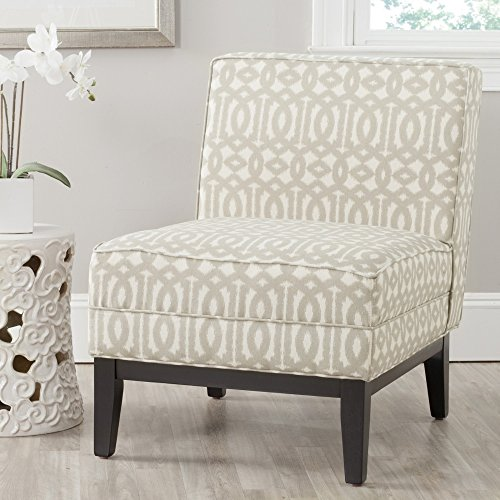 Safavieh Mercer Collection Armond Accent Chair, Grey and Cream