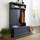 Crosley Furniture Seaside Hall Tree, Distressed Navy