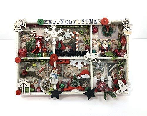 Christmas Miniatures.Amazon Com Christmas Shadow Box Decorative Miniatures