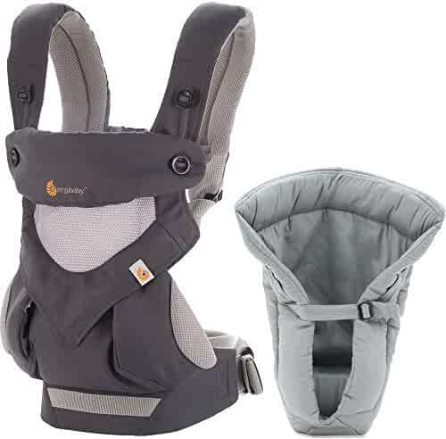 ae9b3d9e7dd Ergobaby Bundle - 2 Items  Cool Carbon Grey All Carry Position 360 Baby  Carrier and
