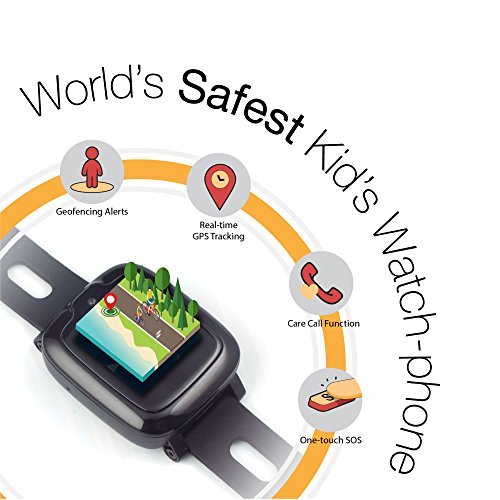 Smart Watch Phone for Kids - Ultimate 3G Smartwatch with GPS Tracker, Touchscreen, Camera, Touch SOS Remote Alarm, Fitness Trackers, Waterproof Cell Phone Watches for Girls Boys by myFirst Fone-Black by Oaxis (Image #2)