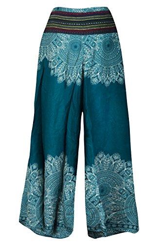 Cccollections À D'éléphant Boho Tendance Imprimé Sea Green Festival Pantalon Mandala Bohémien Pattes Hippy Palazzo qAnrAZwx