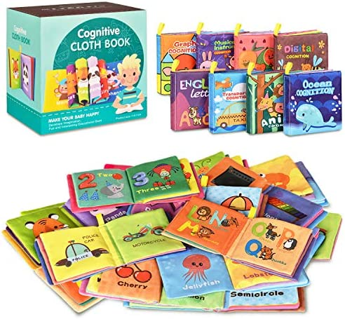51MSdMRZQ2L. AC - Baby Bath Books,Nontoxic Fabric Soft Baby Cloth Books,Early Education Toys,Waterproof Baby Books For Toddler, Infants Perfect Shower Toys,Kids Bath Toys Best Gift(Pack Of 8)