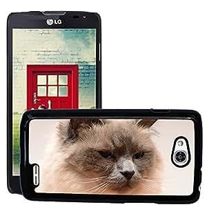 Cas Coq Case Cover // M00145582 La cara del gato del gato Cabeza Gato // LG Optimus L90 D415