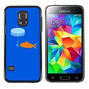 Exotic-Star ( rybka more kryuchok primanka ) Fundas Cover Cubre Hard Case Cover para Samsung Galaxy S5 Mini / Samsung Galaxy S5 Mini Duos / SM-G800 !!!NOT S5 REGULAR!