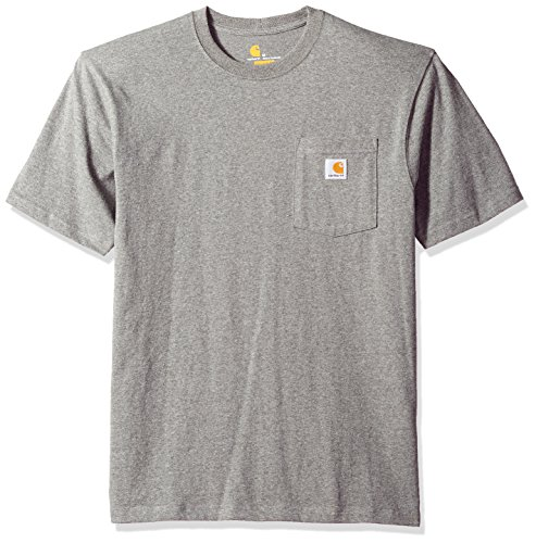 (Carhartt Men's K87 Workwear Pocket Short Sleeve T-Shirt (Regular and Big & Tall Sizes), granite heather, X-Large)