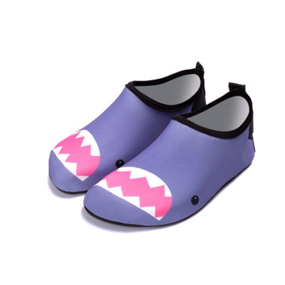 IINFINE Barefoot Water Shoes Aqua Socks Surf Pool Yoga Beach Swim Exercise for Kids